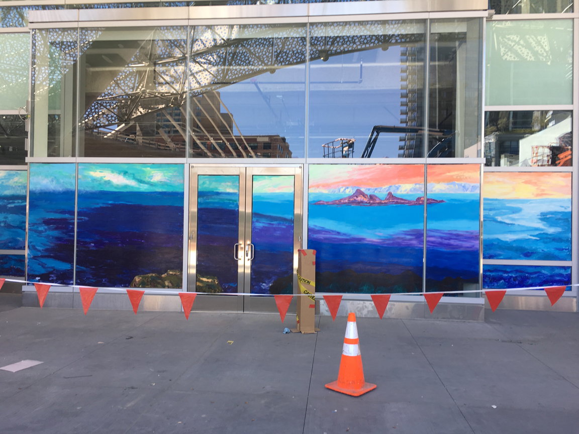 Marius Starkey Mural at Salesforce Transit Center Opening